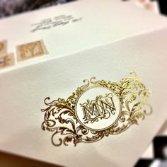 gorgeous wedding monogram