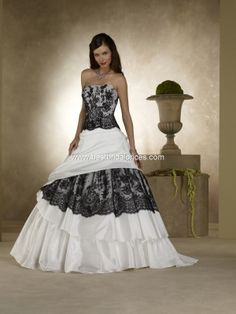 fantasy by forever yours black lace wedding dress - Halloween Wedding Dress