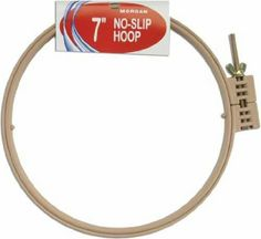 Amazon.com: Morgan 12-Inch Plastic No-Slip Hoop - recommended hoop for making miniature rugs because it keeps the fabric tight
