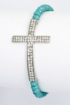 I love crosses! I found this beautiful cross bracelet for only $12 :) FREE SHIPPING. It doesn't get any better than that.  #cross #bracelet #fashion #trend #shop #shopping #fashionista #shopaholic #accessories #style #jewelry #armparty