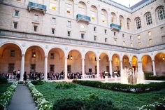 Wedding ceremony at the Boston Public Library created by The Catered Affair