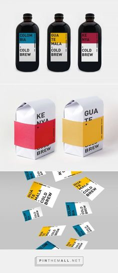 Cold Brew coffee for Avenue cafe – Cold Brew Kaffee für Avenue Cafe – # 15 Food Packaging Design, Beverage Packaging, Coffee Packaging, Bottle Packaging, Packaging Design Inspiration, Chocolate Packaging, Packaging Ideas, Cold Brew Kaffee, Café Design