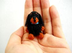 Black Brown Setter - Crochet Miniature Gundog Stuffed Animals - Made To Order ETSY $36.00