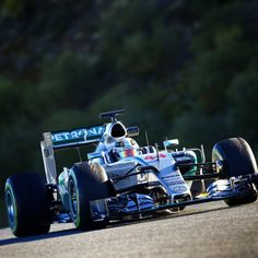 World Champion Lewis Hamilton in his 2015 Mercedes AMG