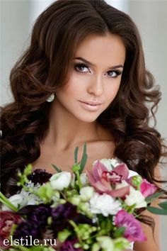 Down Bridal Hairstyles for Long Hair 7