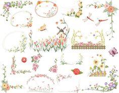 Instant Download Digtal Floral Frames Clip Art by OneStopDigital, $3.99