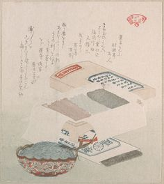 Cakes and Food Made of Seaweed by Kubo Shunman, 19th century