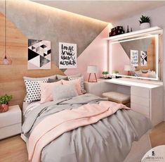 50 pink bedroom decor that you can try for yourself trying on ., : 50 pink bedroom decor that you can try for yourself trying on . Pastel Bedroom, Pink Bedroom Decor, Bedroom Themes, Bedroom Ideas, Bedroom Designs, Bedroom Green, Bedroom Lamps, Wall Lamps, Bedroom Inspiration