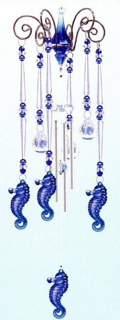 Wind Chime Seahorse -- by Chandelier Style Wind Chime