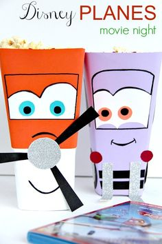 Disney Planes Family Movie Night: Popcorn Tub Craft Project #OwnDisneyPlanes #spon #cbias
