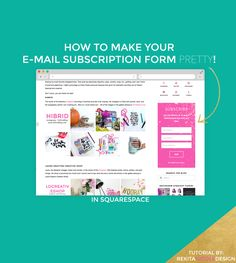 How to Make Your Email Subscription Form Pretty in Squarespace