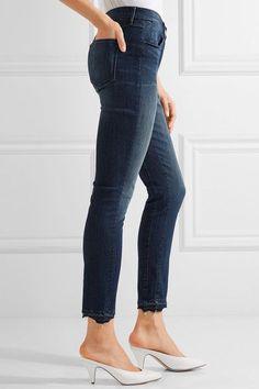 3x1 - W3 Distressed High-rise Slim-leg Jeans - Dark denim - 23