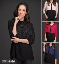 La Camisa Dasya es confortable y delicada. ¿Ya viste su estampado con pequeños lunares?