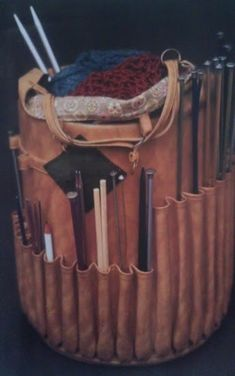 vintage knitting basket