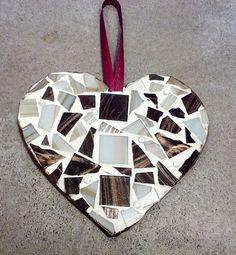 Mosaic+Mocha+Heart+Ornament+Wall+Hanging+by+gr8byz+on+Etsy,+$15.00