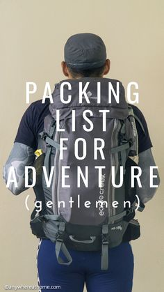 Packing List for Adventure #Abenteuer