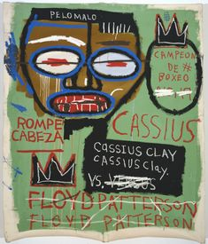 Jean-Michel Basquiat - Cassius Clay, 1982