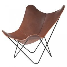 Butterfly chair elegant nordisk butterfly stol i brunt