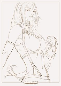 Tifa Sketch by Artgerm