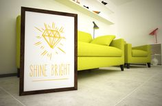 Shine Bright Print  FREE colour changes   8x10 Print by Kultured