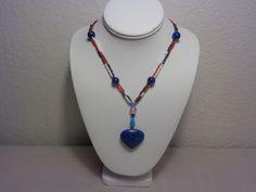 Wisdom Stone Necklace Lapis Lazuli With Beads