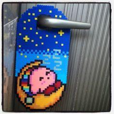 Kirby perler door hanger by pixelona