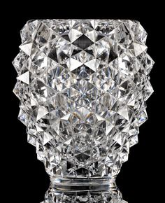 Elegant Val Saint Lambert vase V CG Charles Graffart Catalogue