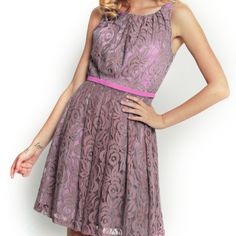Liberty Dress Taupe Lace: cute for bridesmaids in another color????