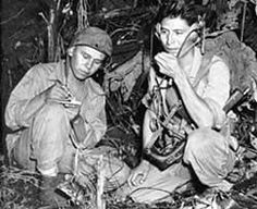 Navajo Code Talkers in WWII. Pinned by indus® in honor of the indigenous people of North America who have influenced our indigenous medicine and spirituality by virtue of their being a member of a tribe from the Western Region through the Plains including the beginning of time until tomorrow.