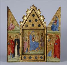 Vanni, Lippo - Reliquary with Madonna and Child with Saints - Medieval