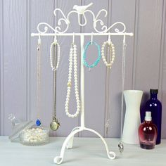 Scroll And Bird Jewellery Hooks