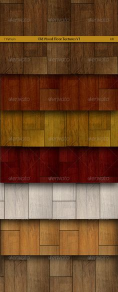 Old Wood Floor Patterns  #GraphicRiver         Seven different color Old Wood Floor surfaces realistic texture backgrounds. Old Wood Styles.   	 Great for your creativity, for website, 3d programs, banners, billboards, presentations, business cards, postcards, leaflets, flyers, flash and web backgrounds, desktop backgrounds and more.  About files    Seampless, Tileable  JPG, 2048×1024 px  PAT, Photoshop pattern, 2048×1024 px  RGB – color mode  Friendly file names  Nice creativity! If you…