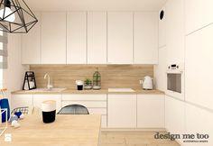 SKANDYNAWIA W NOWOCZESNYM WYDANIU NA WOLI - Średnia otwarta kuchnia w kształcie litery l, styl nowoczesny - zdjęcie od design me too
