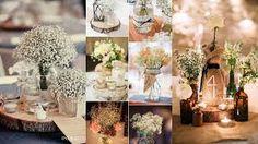 Znalezione obrazy dla zapytania stoły weselne dekoracje wiejskie