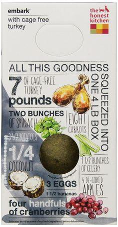 Amazon.com : The Honest Kitchen Embark: Grain Free Turkey Dog Food, 4 lb : Dehydrated Pet Food : Pet Supplies
