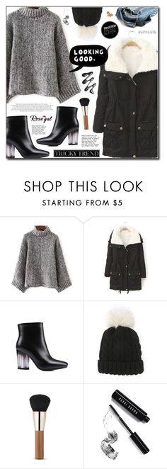 """""""Tricky Trend (Rosegal 30)"""" by adnaaaa ❤ liked on Polyvore featuring ESPRIT, ZIG-ZAG, Bobbi Brown Cosmetics, TrickyTrend, trend, BlackAndGrey and rosegal"""