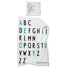 Scandinavian Design, Design Letters Junior Bed Linen by Arne Jacobsen Girl Nursery Bedding, Pink Bedding, Bedding Decor, Cotton Bedding, Baby Bedding, Luxury Bedding, Lettering Design, Design Letters, Single Size Bed