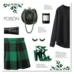 POISON by uniqueimperfection on Polyvore featuring Sea, New York, Pierre Hardy, NARS Cosmetics, Byredo, Louis Vuitton, Fall, black, GREEN, autumn and uniqueimperfection