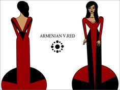 #Armenian V., Red., #EveningDress #WomenWear #Հայկական Ո., Կարմիր., #ԵրեկոյանԶգեստ #ԿանացիՀագուստ
