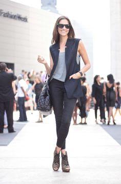 sleeveless blazer #fashion #outfit #style