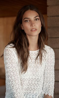 The Perfect Spring Lace Top - Model: Lily Aldridge