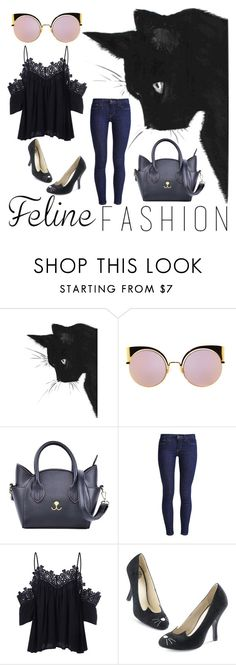 """""""Feline Fashion"""" by that-nattitude ❤ liked on Polyvore featuring Fendi and Levi's"""