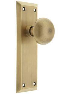 bedroom and closet door knobs new york door set with no keyhole and classic round knobs - Closet Door Knobs