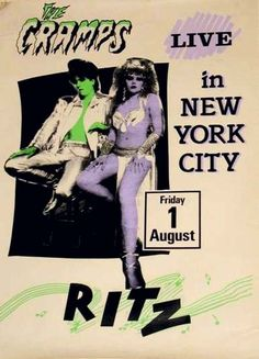 The Cramps: and that ubiquitous Ritz logo!   35 Old Punk Flyers That Prove Punk Used To Be So Cool