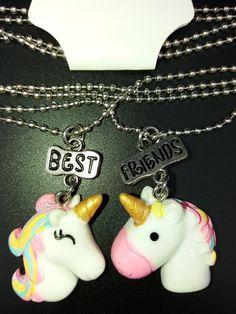 Quiero compartir lo último que he añadido a mi tienda de #etsy: Collar unicornios de la amistad. https://etsy.me/2EHKRMl
