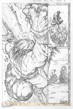 "Página a lápiz de ""Inhuman"" (Marvel Comics) - Exclusiva de Comic Book Resources…"