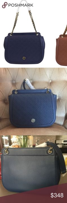 Authentic Tory Burch Bryant Quilted Shoulder Bag Hudson Bay color. Brand new. Shoulder strap with 23 drop. 1 zip and 2 slip pocket inside. Flap and magnetic closure. Approximately 8 1/4 X 12 X 4 dimension. Signature lining. Gold tone hardware. Tory Burch Bags Shoulder Bags
