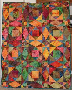 Storm at Sea in bright batiks - Totally in LOVE with this quilt.....would LOVE to try this one!!!! <3
