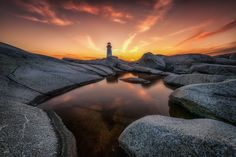 Sunset Peggy's cove by Glenn Bernasol One of the photos from our recent trip to Peggy's cove, Nova scotia. Glenn Bernasol: Photos #nature #photography