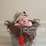 Baby Fishing Hat & Fish - via @Craftsy